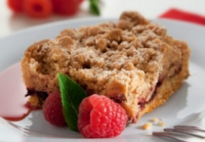 Raspberry Muffin Squares