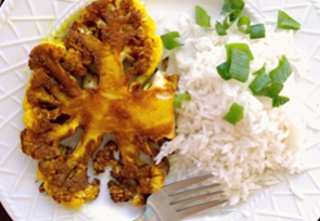 Curried Cauliflower Steaks