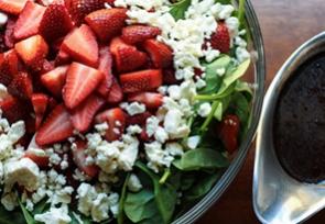Salad with Strawberry Vinaigrette