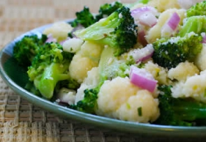 Marinated Broccoli and Cauliflower