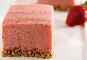 Strawberry Frozen Yogurt Squares