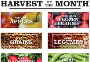 New School Year, New Harvest of the Month Calendar