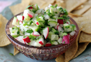 radish and cucumber salsa