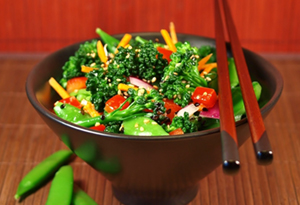 snap pea and broccoli salad