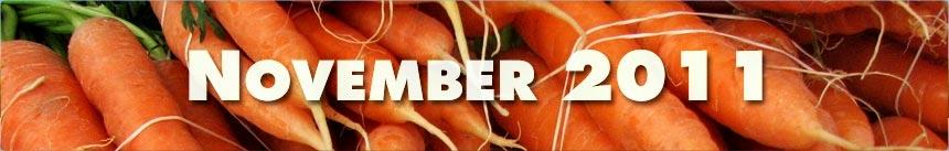 November 2011 – Carrots