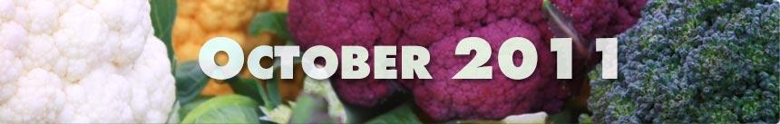 October 2011 – Broccoli & Cauliflower