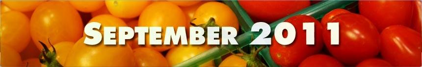 September 2011 – Cherry Tomatoes
