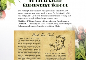 Night with the Chef at Eagleridge Elementary, Ferndale, May 15: