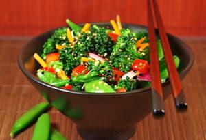 snap pea and broccoli salad